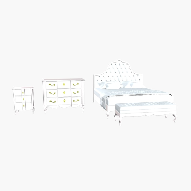3d nuove bedroom bed