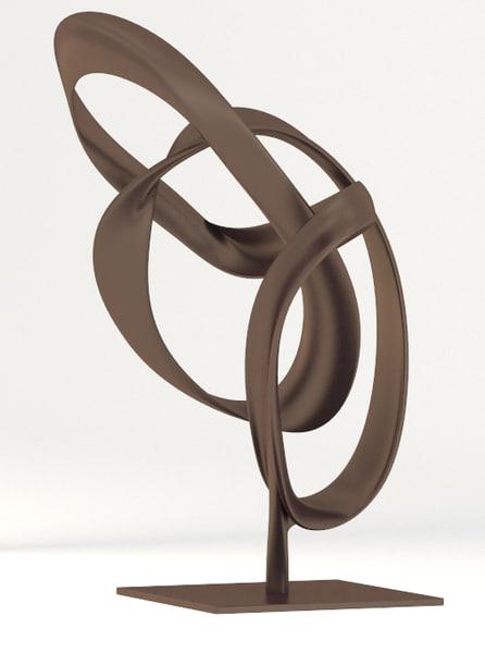 abstract bronze sculpture obj