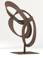 abstract bronze sculpture obj