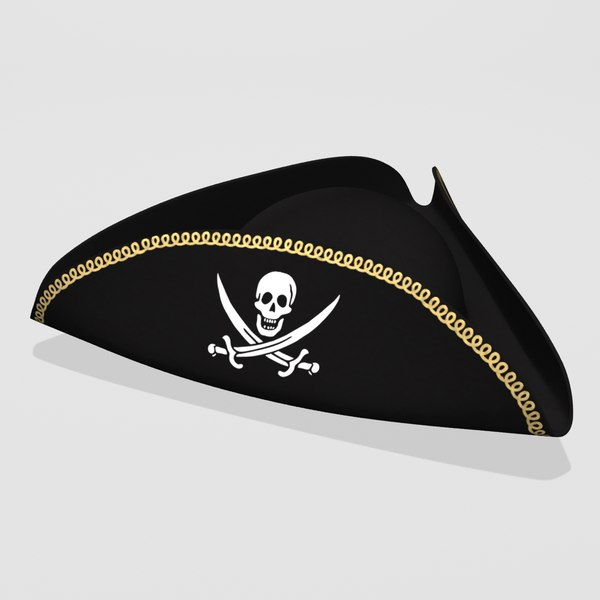 pirate hat 3d model