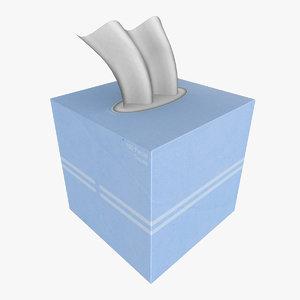 square tissue box 3d x