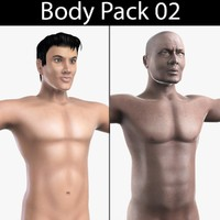 body pack 02 african male 3d model