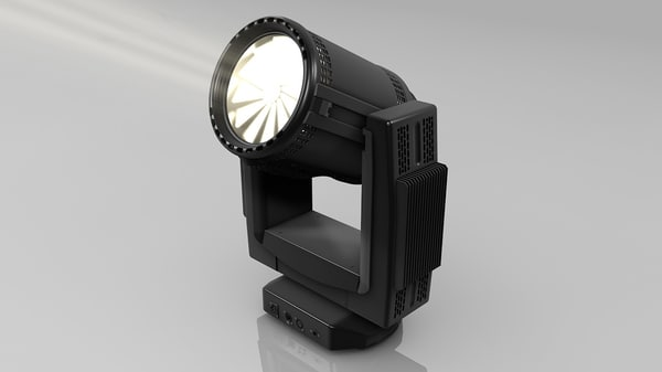 moving head light 3d model