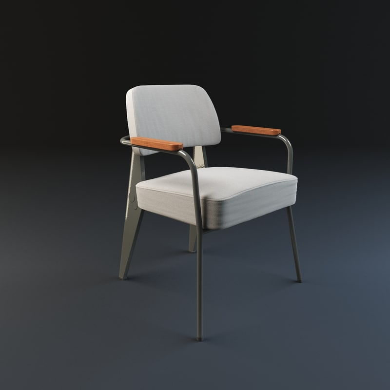fauteuil direction vitra 3d model