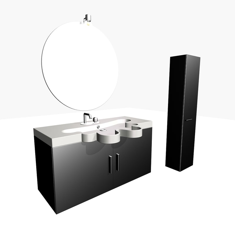 3d washerstand closet model