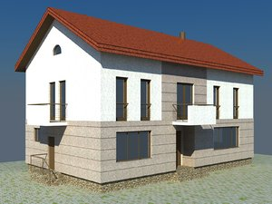 2 story house 3d 3ds