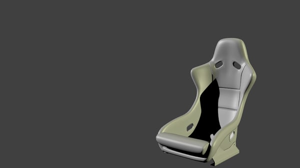 free competition car seat 3d model