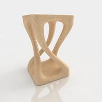 Bar stool 97 ash wood