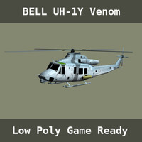 gaming uh-1y helicopters 3d 3ds