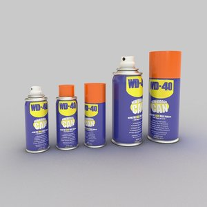 gun oil wd40 cans 3d model