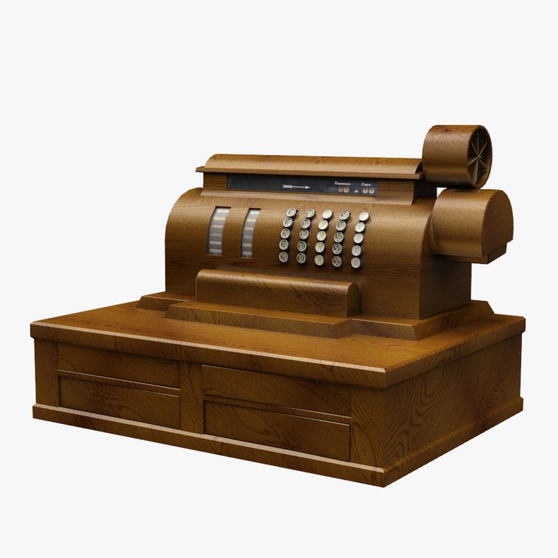 3d model cash register