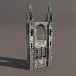 max castle ruin modelled
