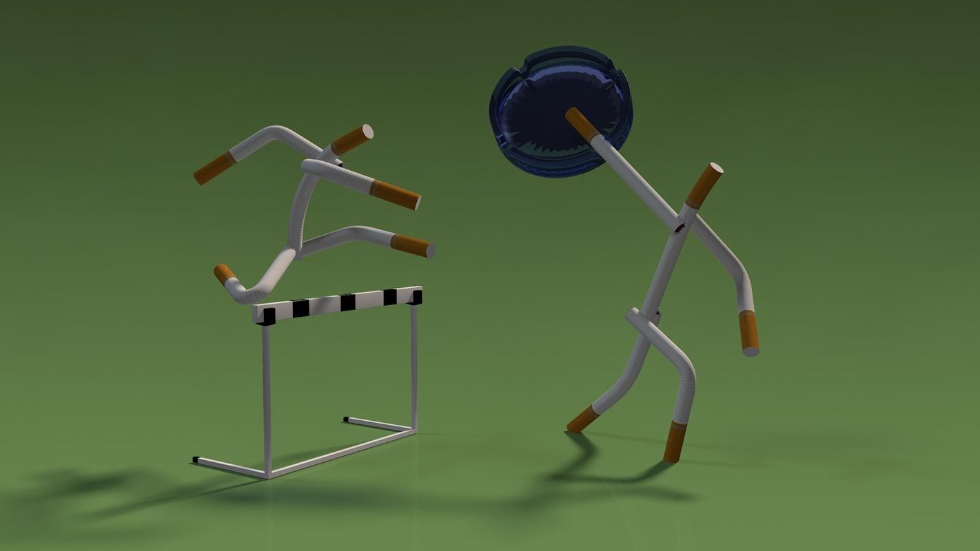 cigarette man 3d model