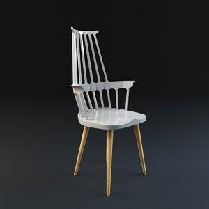 3d comback chair kartell