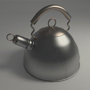 maya kettle modeled blender