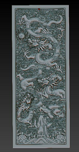 obj carved chinese dragon