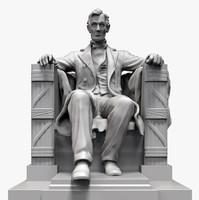3d memorial abraham statue model