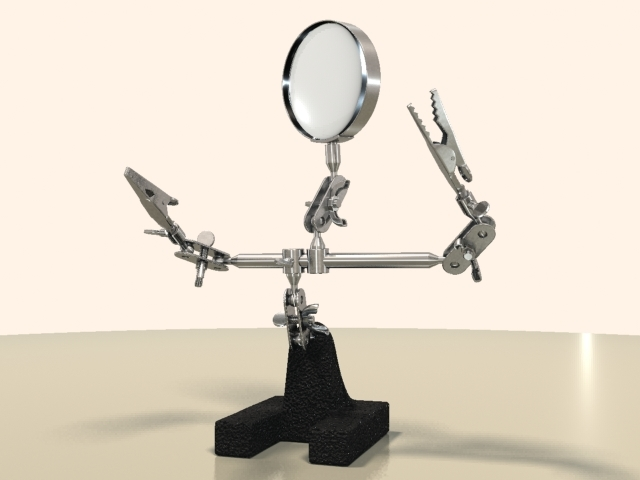 3ds professional helping hand magnifying glass