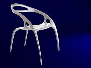 3d chair ross lovegrove model