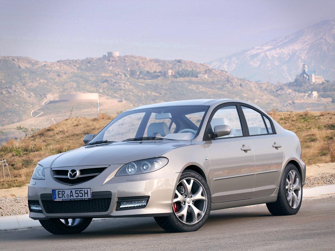 3d model of mazda 3 sedan