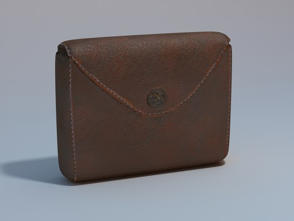 3ds max leather pouch