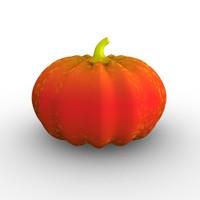 3d model orange pumpkin