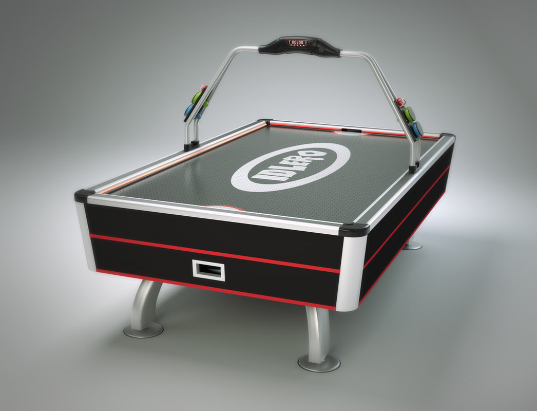 3d table air hockey model