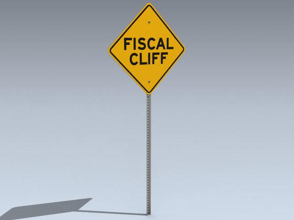 3d model road sign fiscal cliff