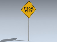 3d model road sign fiscal cliff