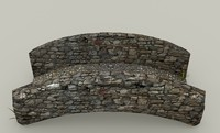 medieval stone bridge 3d 3ds