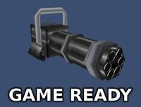 minigun mini gun obj