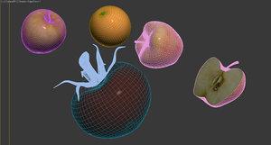 3d fruits sss