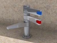 tap bathroom toilet 3d model