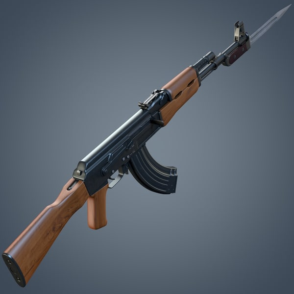 3d model kalashnikov ak-47 assault rifle