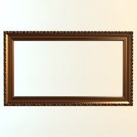 3ds max wall frame gold