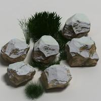 Rocks with Snow 03