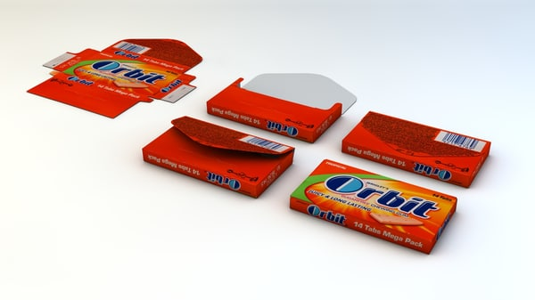 c4d chewing gum package