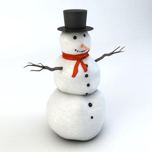 realistic snowman 3ds
