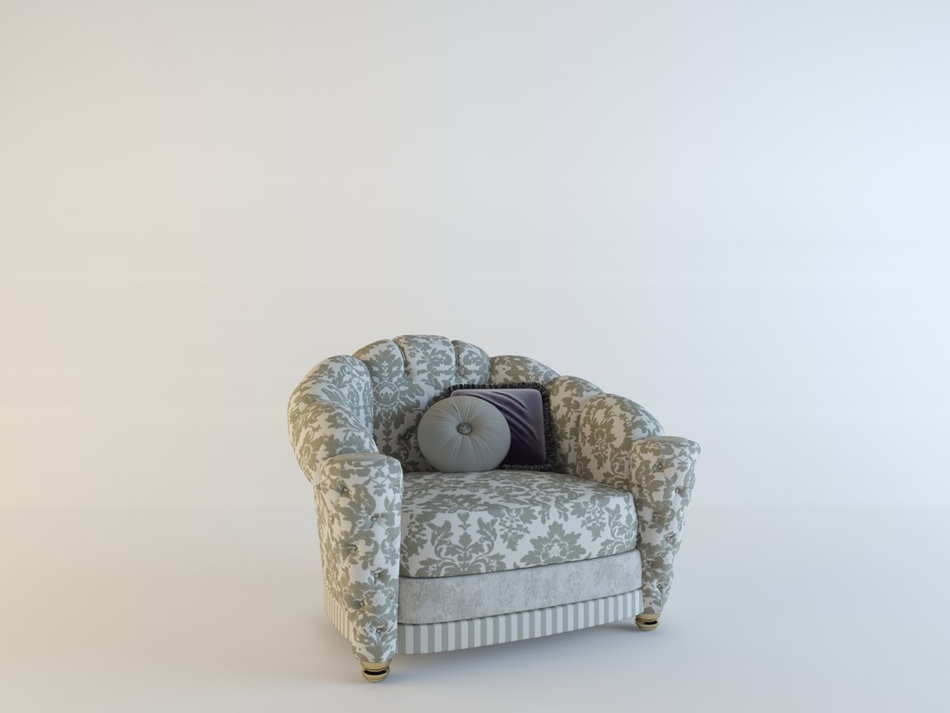 3d model armchair misuro salotti