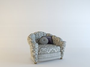 3d model armchair misuro salotti