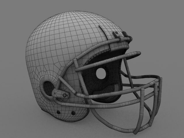 3ds football helmet
