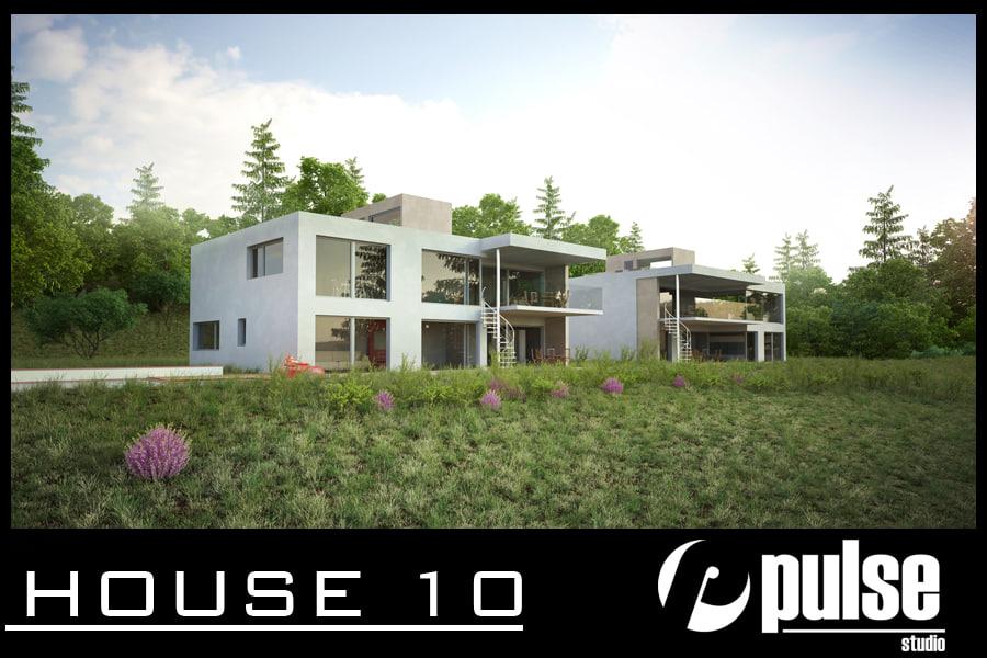 3d model family house 10