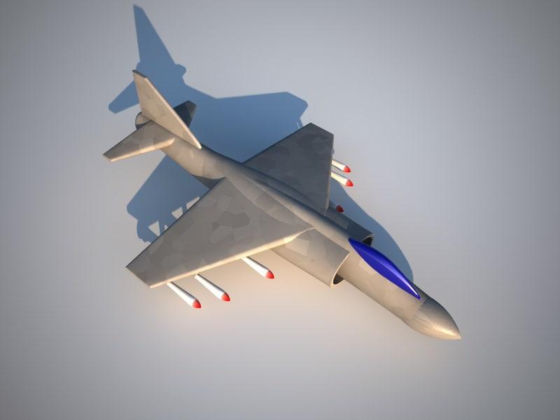 free av-8b harrier 3d model