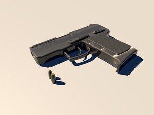3d model heckler koch usp compact