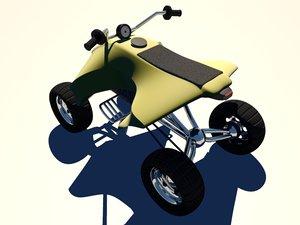3d yamaha yfz atv quad model
