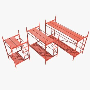 3d model of scaffolding structure