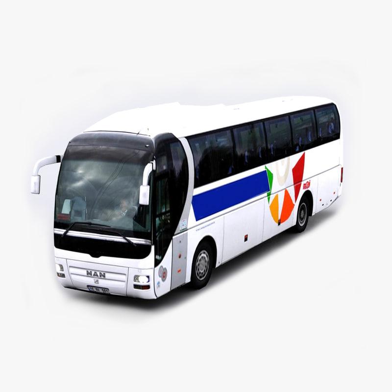 man lion s coach bus 3d max