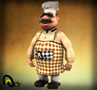 3d chef model