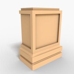 interior plinth block 3d 3ds
