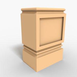 max interior plinth block